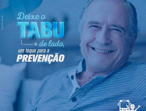 Novembro azul: deixe o tabu de lado com um toque para a prevenção