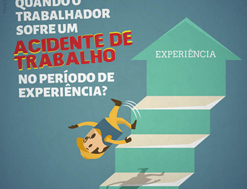 O que acontece quando o trabalhador sofre um acidente de trabalho no período de experiência?